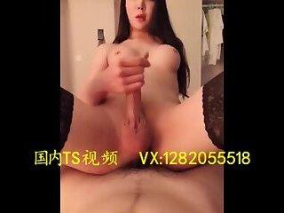 人妖上位 Sexy transvestite 金韩雅 sat on a big cock man masturbation ejaculation