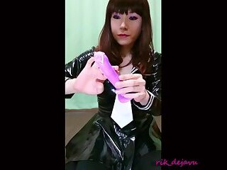PVC Sailor school uniform Orgasm cumshot