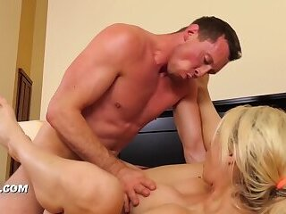 Forced fuck with a busty blonde