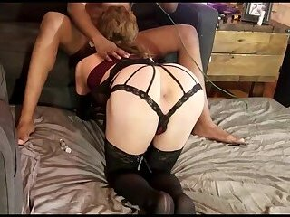BBC using a cute sissy pussy