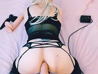 Sissy Slut Chantal Sweet Fucking Machine Workout Compilation