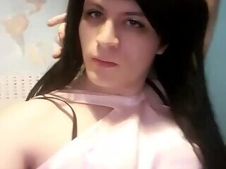 CD Femboy in pink dress