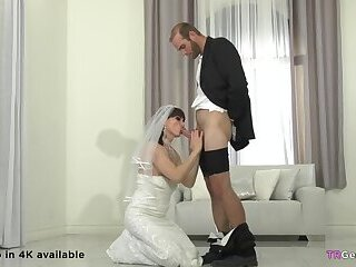 Trans Bride And Her Big Cocked Husband Fucking
