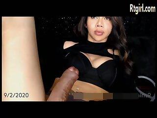 big boobs milf tranny jerking off her huge cock
