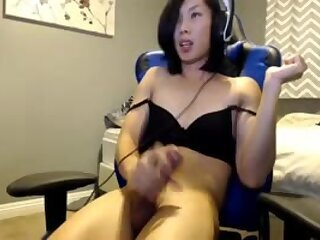 hot oriental hottie with cock sperms