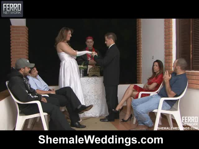 Shemale fucks husband