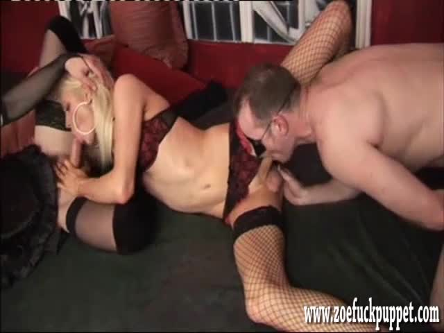Hot Latex Guys Enjoy Blowjob
