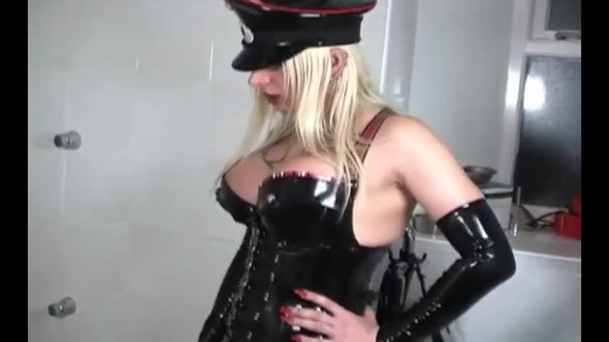 Shemale Mistress Piss on Slave
