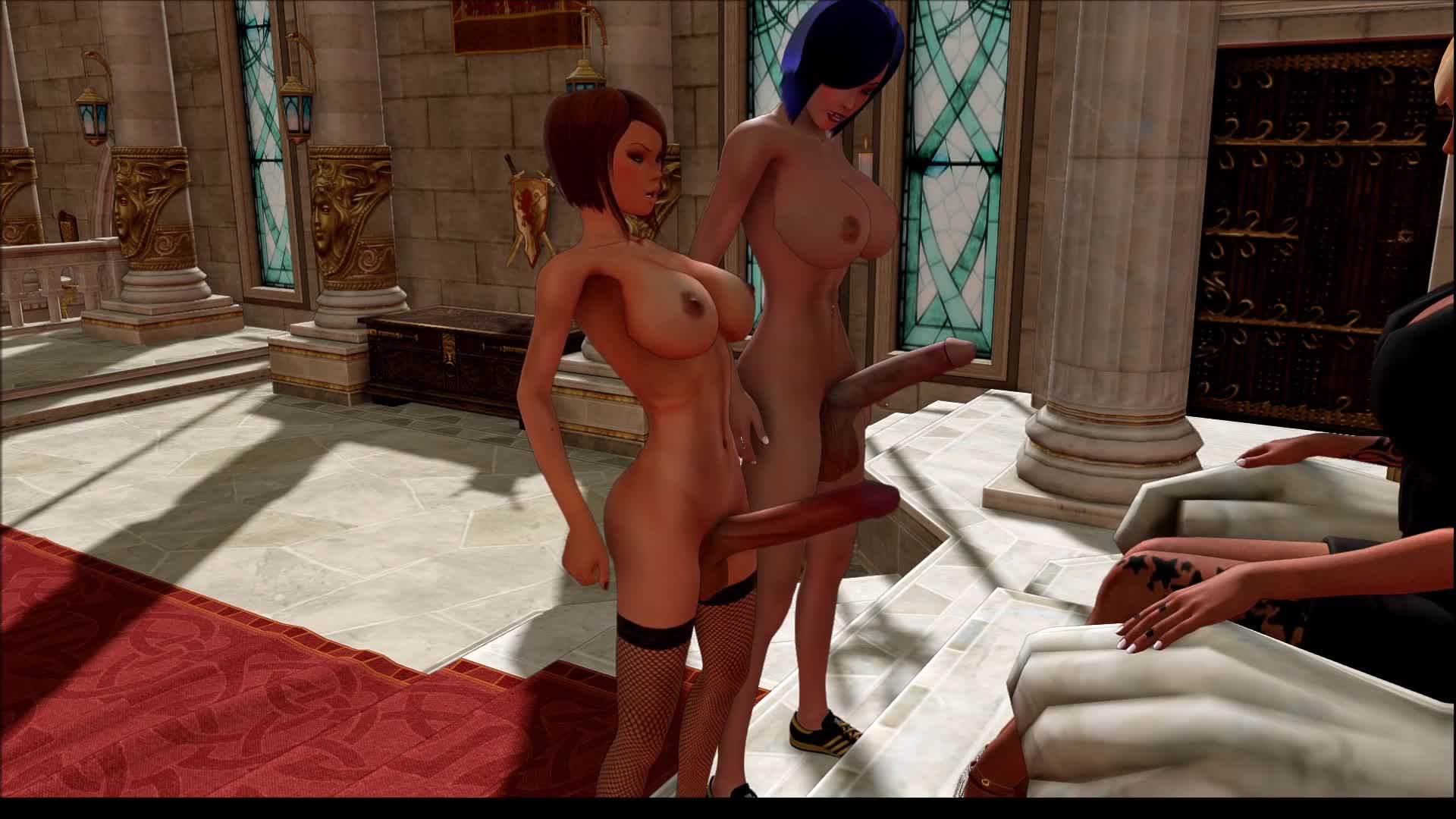 3d babe has her tits and pussy fucked by a dwarf 5