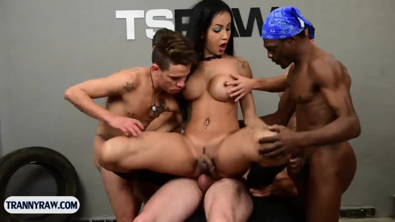 four shemale gangbang