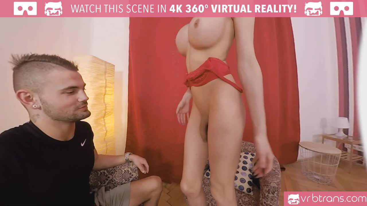 Analfucking Videos ts vr porn-busty ts kimber lee anal fucking with red