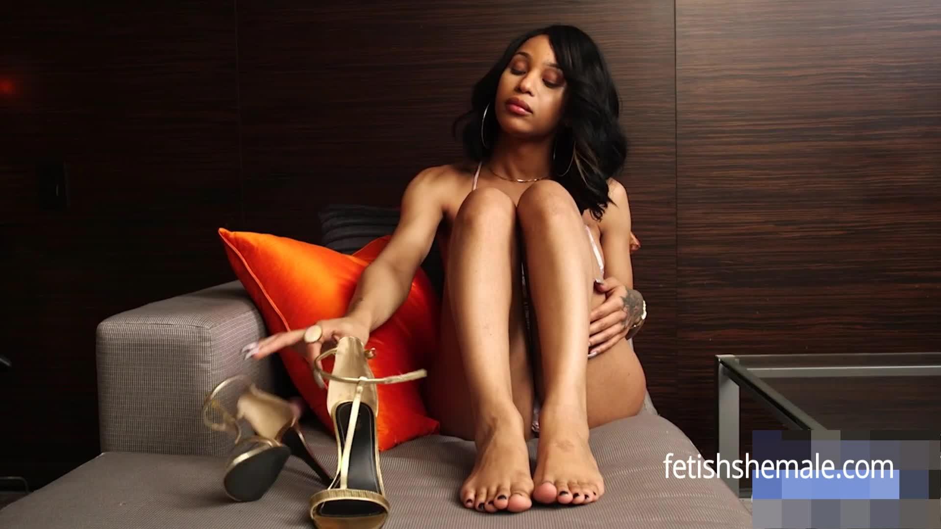 Ebony TS Megan and Her Sexy Feet